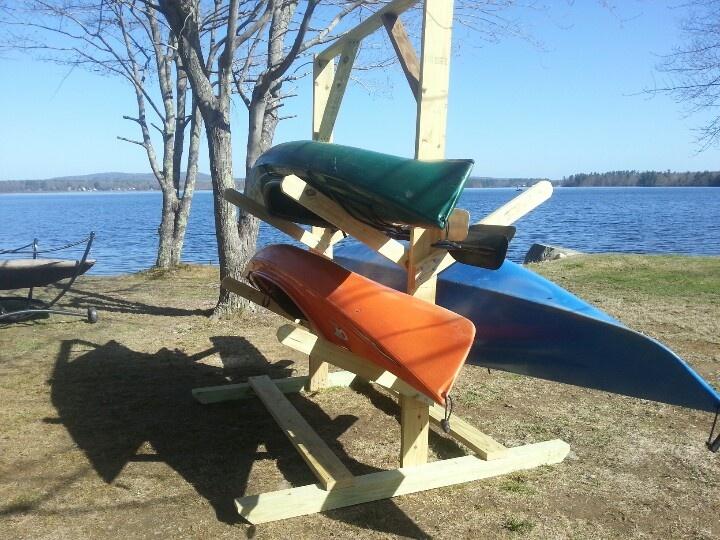 fishing boat topic diy outdoor kayak rack