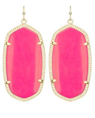 Danielle Earrings in Neon Pink