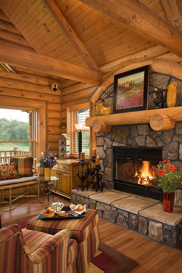 Log Home Photos Fireplaces & Special Spaces › Expedition