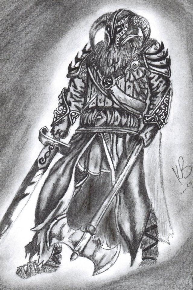 Viking tattoo design pencil drawing Tattoo