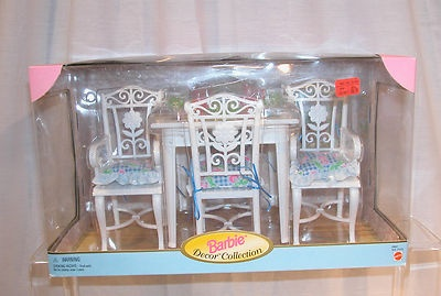 Barbie Decor Collection Target Dining Room Table Chairs Mattel 1998 New EBay Toys Amp Dolls