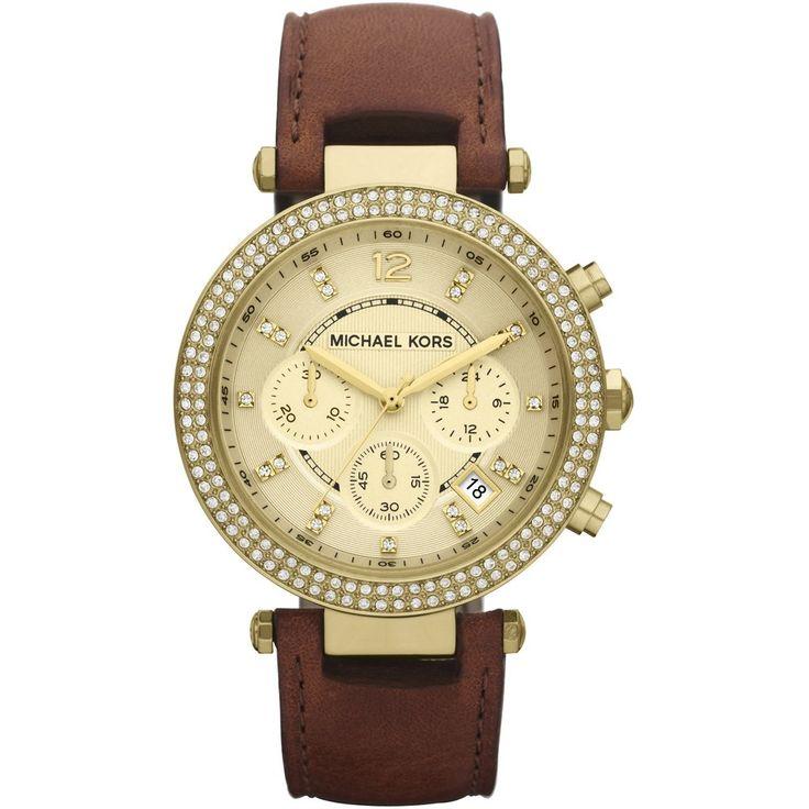 womens watches | Michael Kors Womens Leather Strap Chronograph Watch MK2249 – Michael …