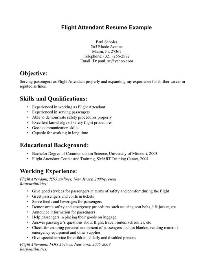 resume flight attendant job tips in writing a cable technician