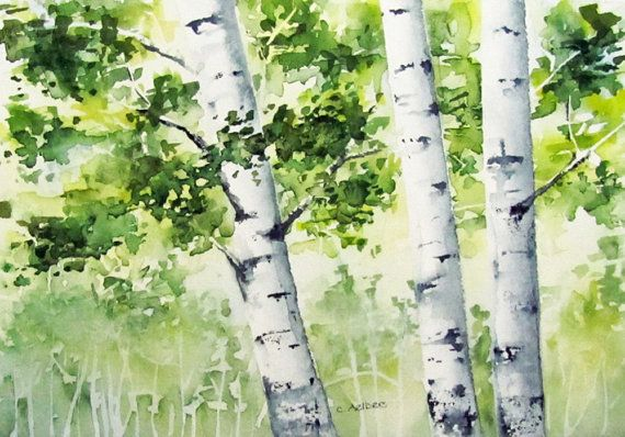 25+ Best Ideas About Watercolor Trees On Pinterest