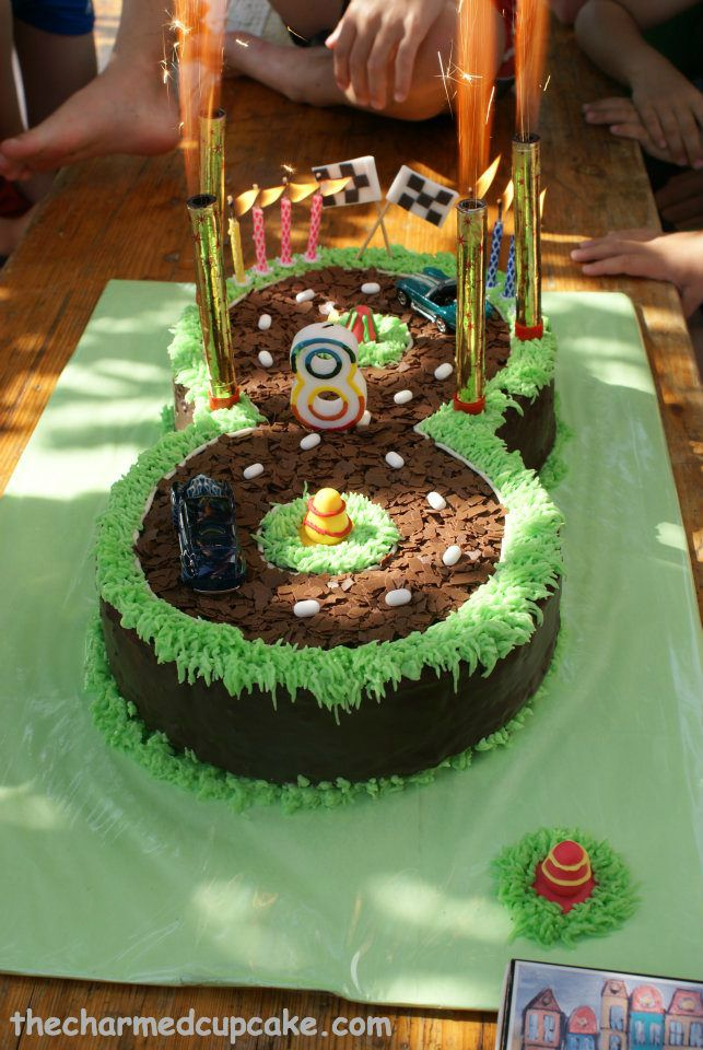 Easy Race Car Party Cakes Race Track Birthday Cake The