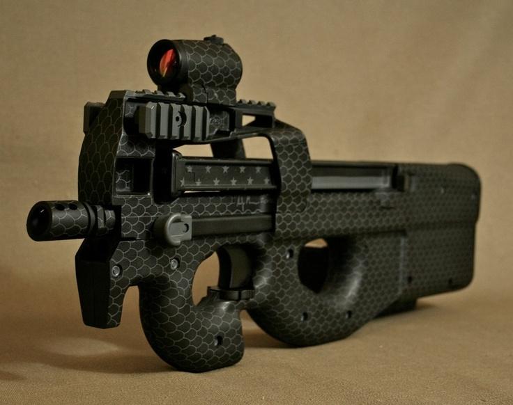 FNH PS90 SBR. Custom Midnight Snakeskin duracoat paint job