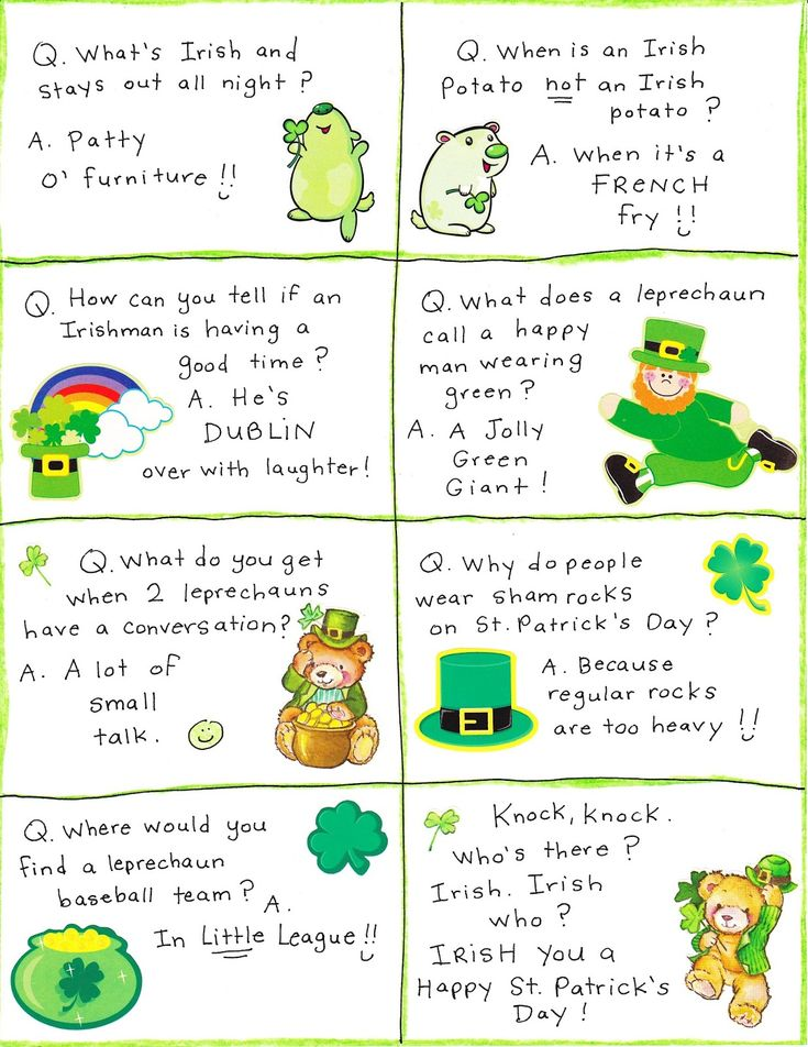 St Patrick's Day Irish Jokes, Limericks, Riddles, One