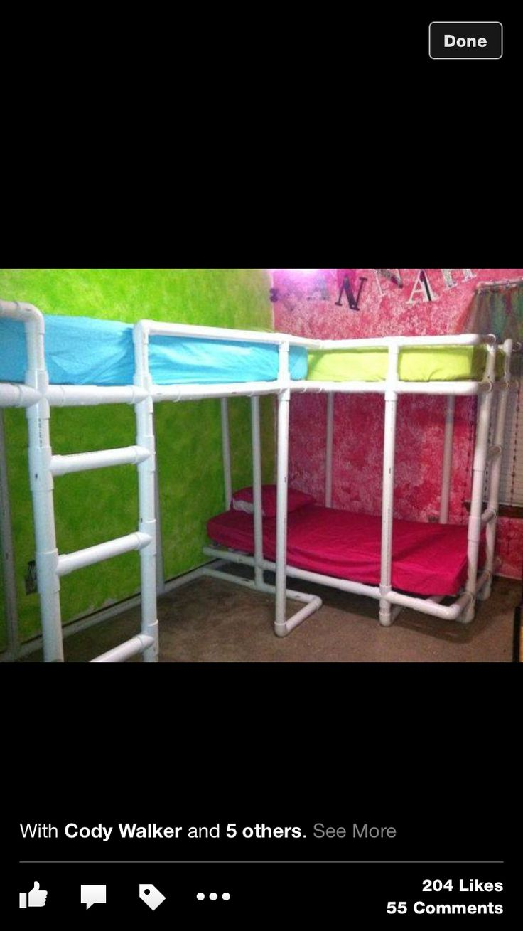 PVC Bunk Beds Kids Room Pinterest Bunk Bed And Pvc