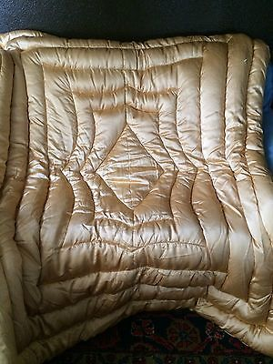 Vintage Satin Peach Hollywood Glam Goose Down Full Comforter Bedspread Blanket I Found That