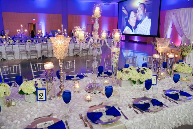 Our Royal Blue And White Wedding Bridal Party