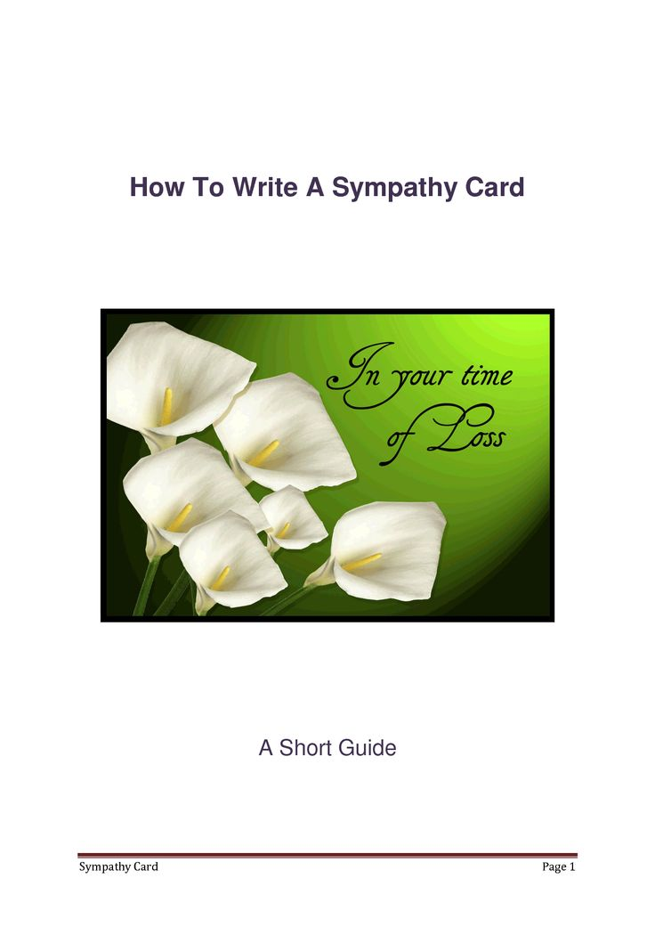 Examples of sympathy messages for cards the most difficult