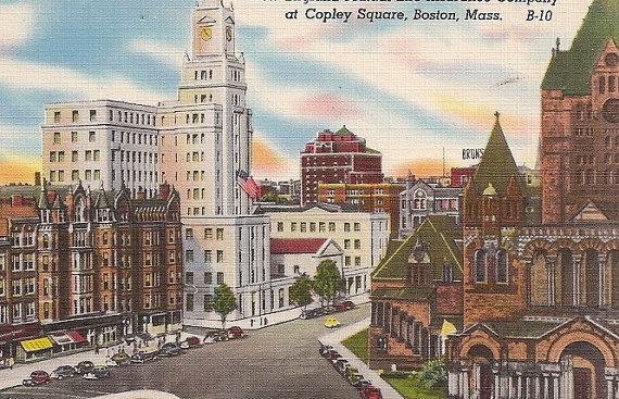 Copley Square Boston MA Vintage Vintage Massachusetts