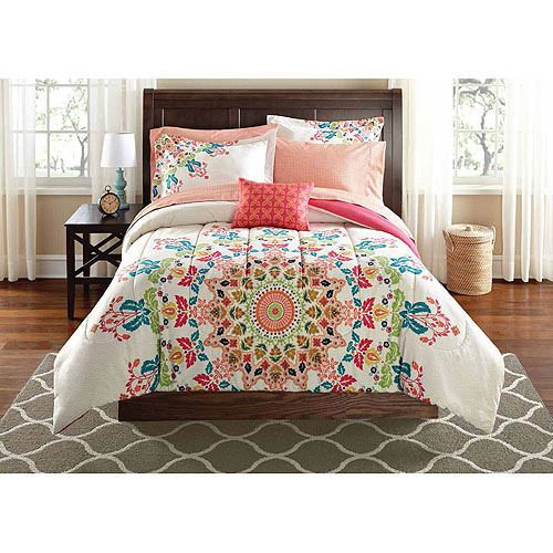 New Girls Twin Twin Xl Comforter White Red Teal Coral