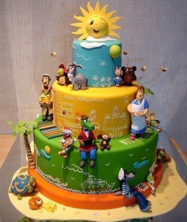 Russian cartoon themed cake! Give it to me! Pinterest