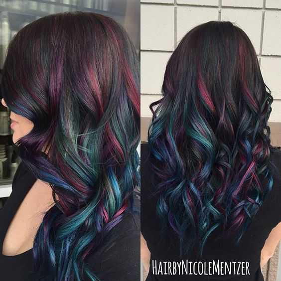 Oil Slick Hair Color Thirdimensionsalon Joico