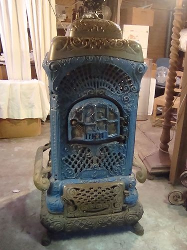 Antq Cast Iron Wood Burn Parlor Stove Moores Air Tight Heater No 403 B EBay Fen Stove
