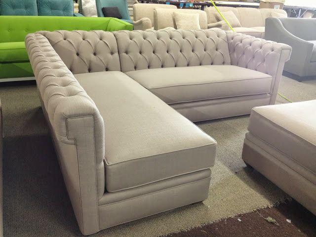 Rosa Beltran Design Blog Linen Tufted Chesterfield Sofa