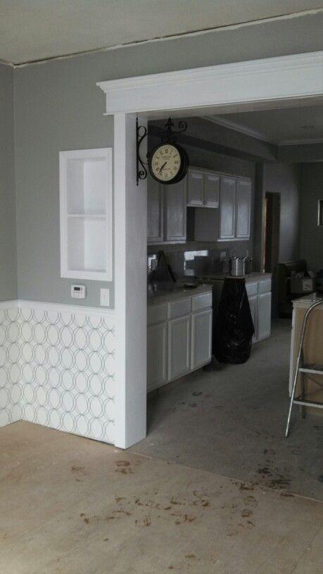 My House In Progress Kitdining Room Coventry Gray Paint