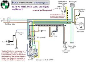 puch moped wiring diagram | Puch Wiring Diagram 197879 6