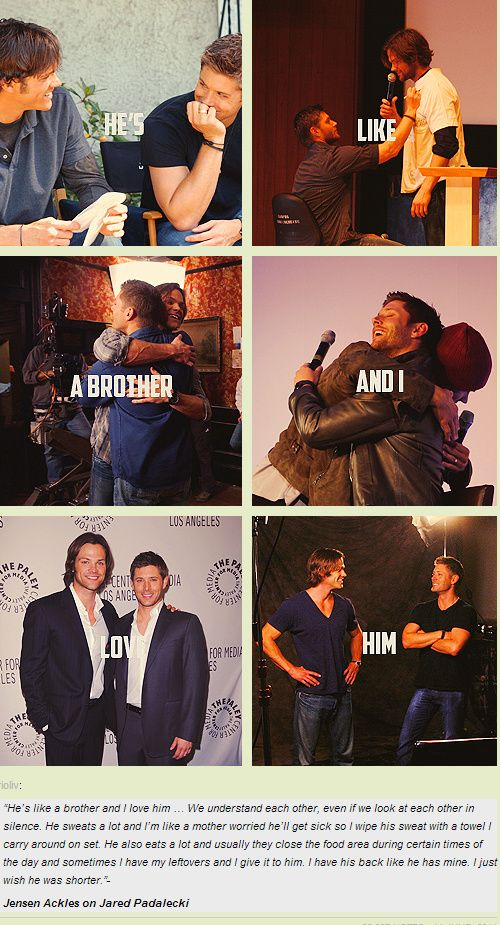 Jensen talking about Jared and their brotherly bond…