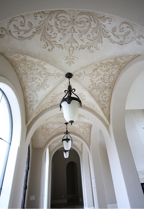 Stenciled Groin Ceiling Ceiling Treatments Pinterest
