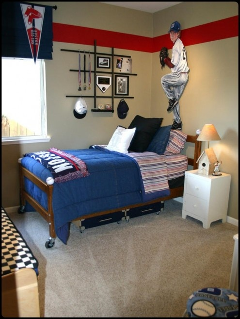 365 Best Images About Kid S Rooms Boys On Pinterest Bedrooms Baseball Themed And Loft Beds