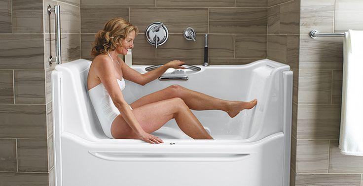 Nice Universal Bathtub Design Lets You Sit Amp Slide Into