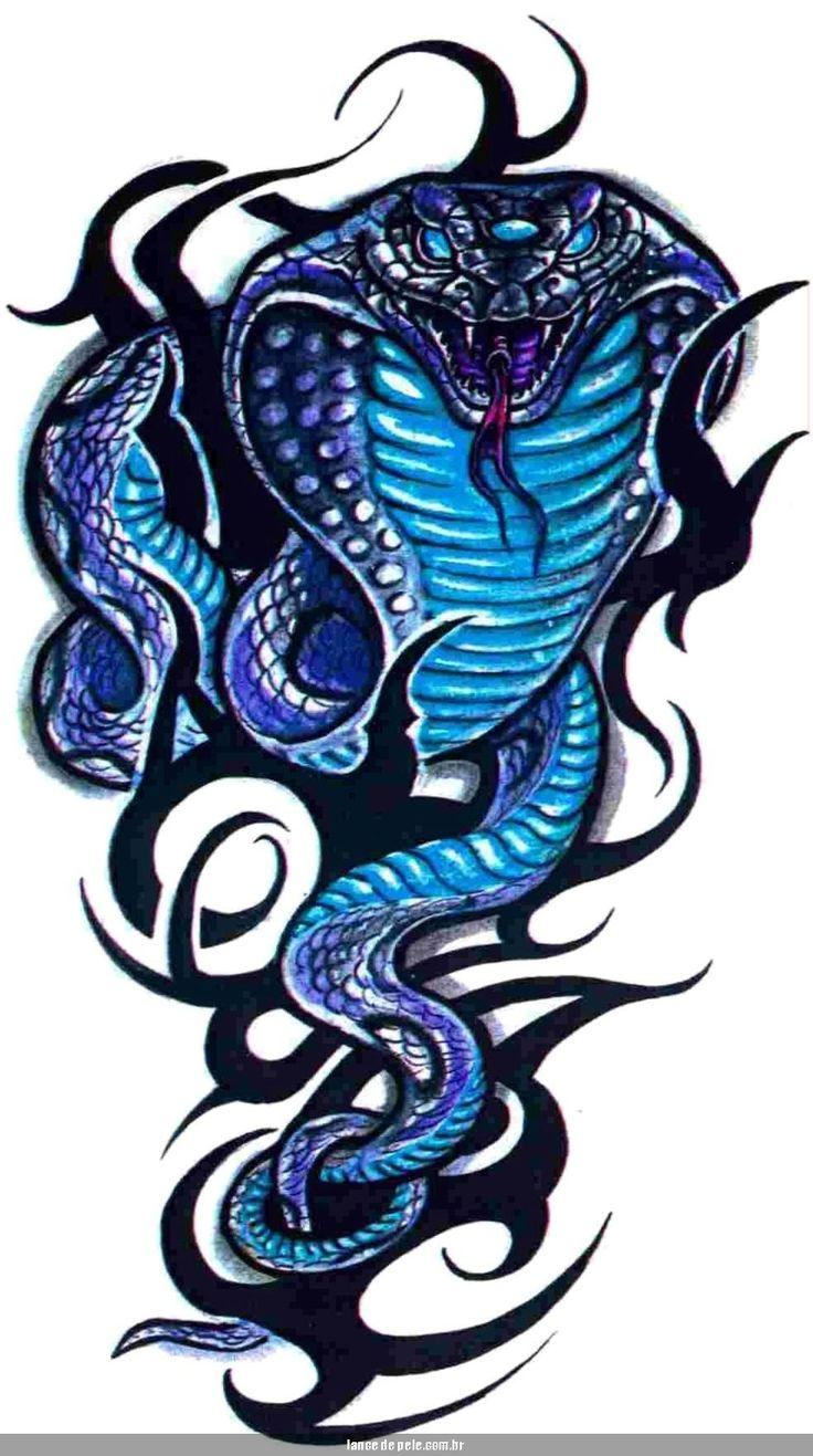 Cobra Snake Tribal Tattoo Page 20 Watery Pinterest