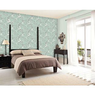 Dulux Blossom Wallpaper Soft Jade From Homebase Co Uk Feature Wallpaperwallpaper Ideasoriental Bedroomdulux