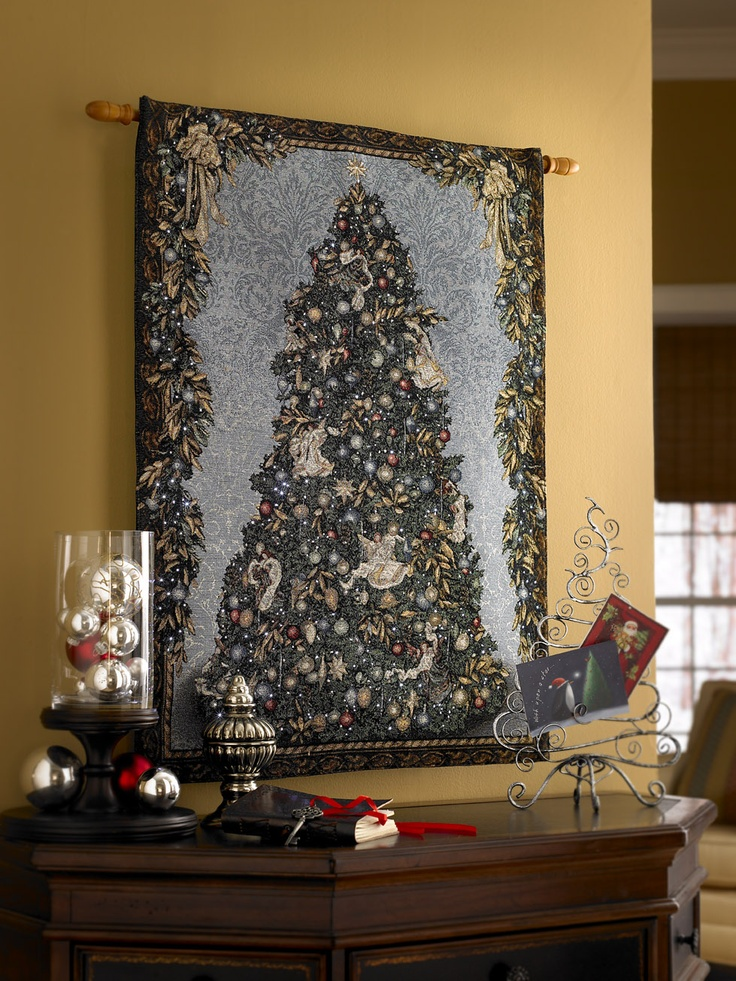 Celebrate Lighted Christmas Tree Tapestry Www