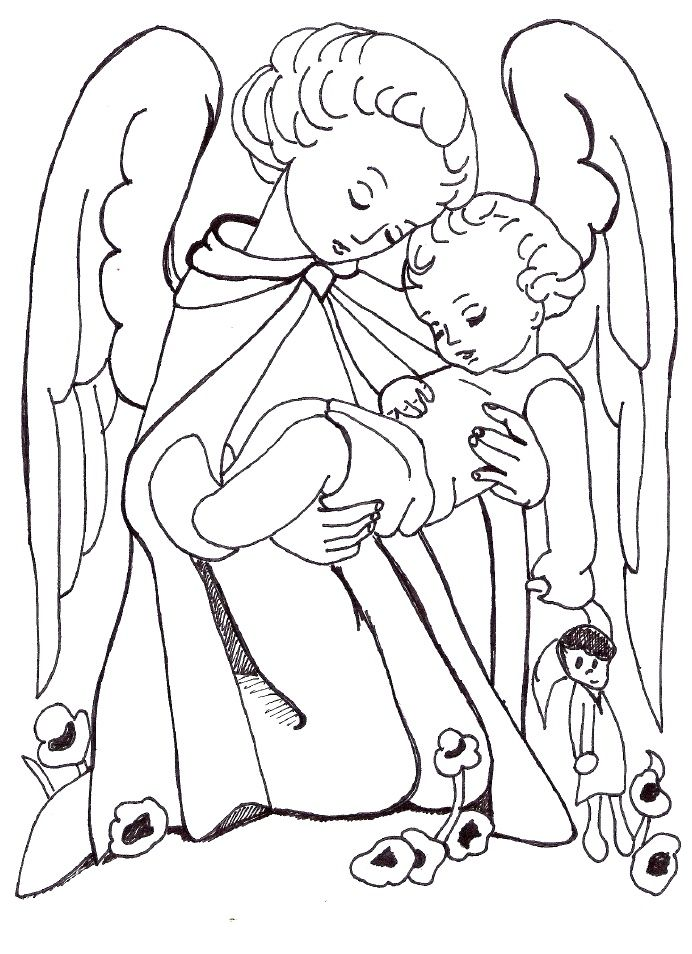 angel coloring page angels pinterest guardian angels angel