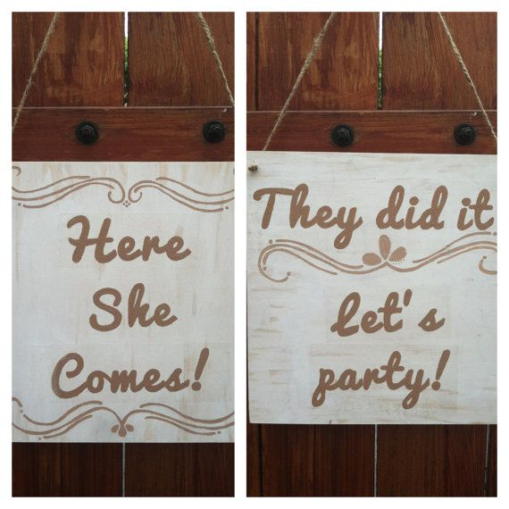 Ring Bearer Sign: Here She Comes an