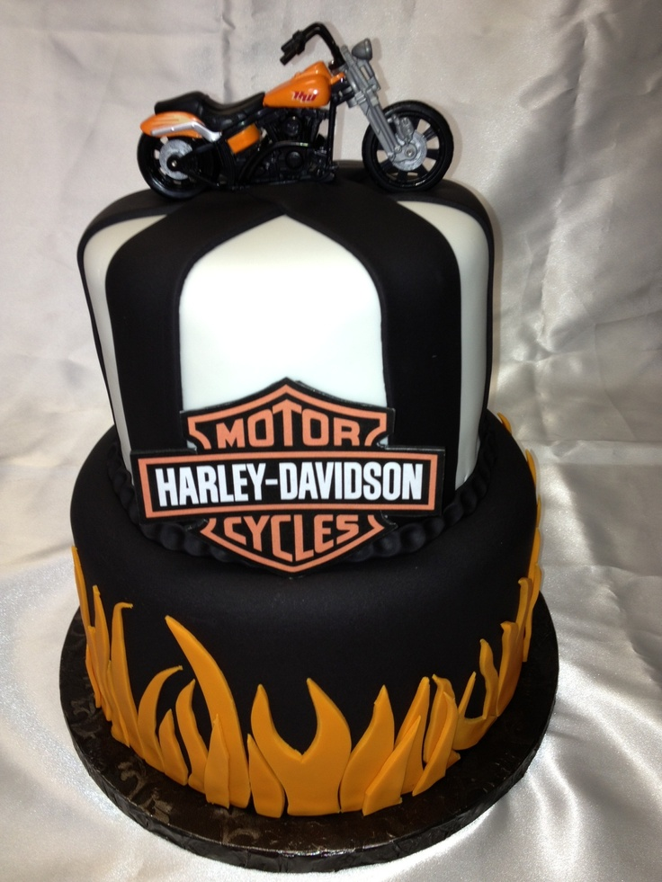 Harley Davidson Cake My Portfolio Of Cakes Pinterest
