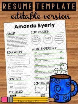 1000 ideas about teacher resume template on pinterest teacher