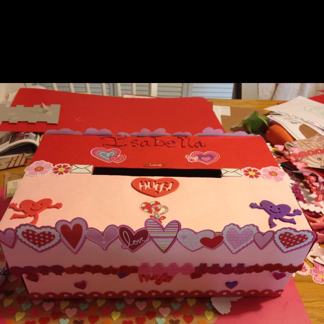 Valentines Day Project Made With A Shoe Box Used