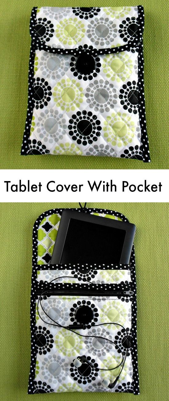 Sew a Quilted Tablet Cover With Zippered Pocket Sewing