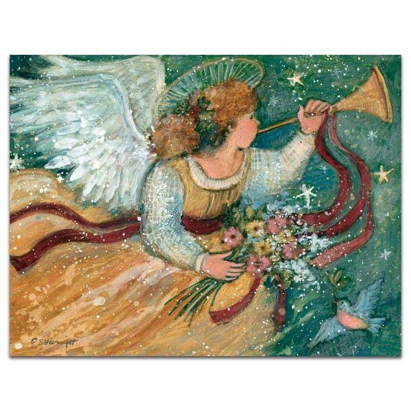 Trumpeting Angel Artwork By Susan Winget Card By Lang