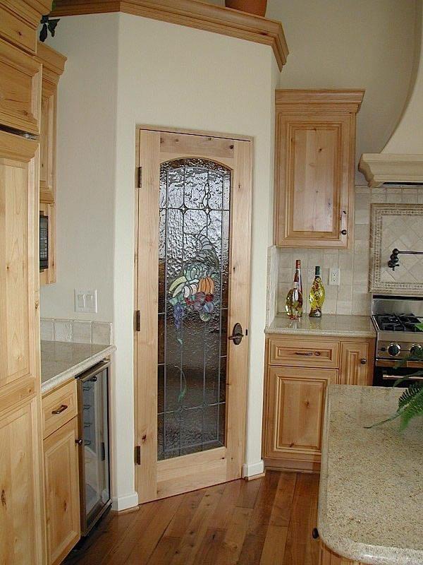 Corner pantry door