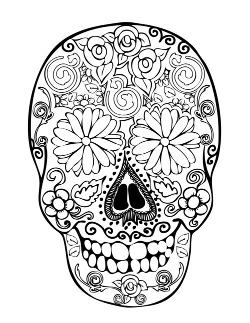 1000 images about coloring on pinterest sugar skull coloring