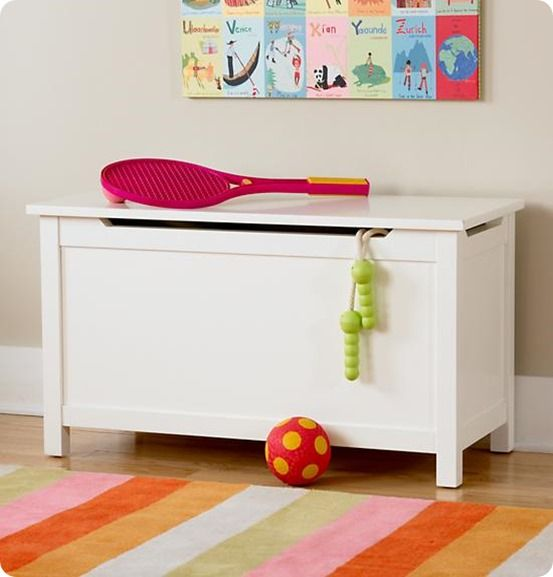 DIY toy box with safety lid