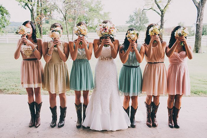 Love the different dresses with boots!