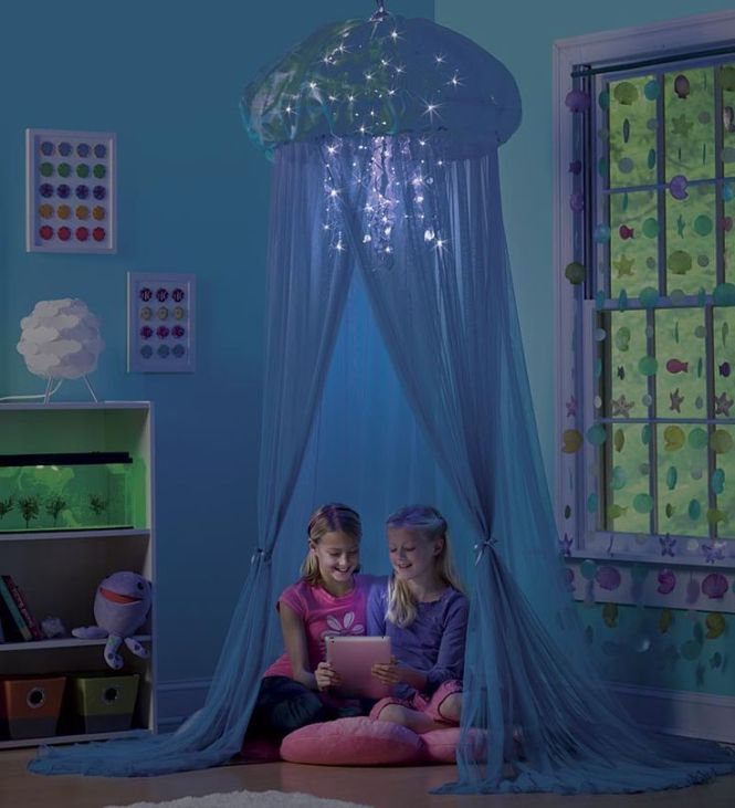 Aquaglow Light Up Jellyfish Hideaway Bed Canopy