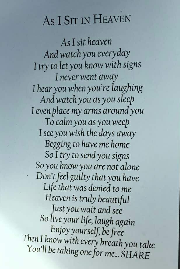 As I Sit In Heaven Poem Favorite Quotes To Live By Pinterest My Love For You Mom And Dads