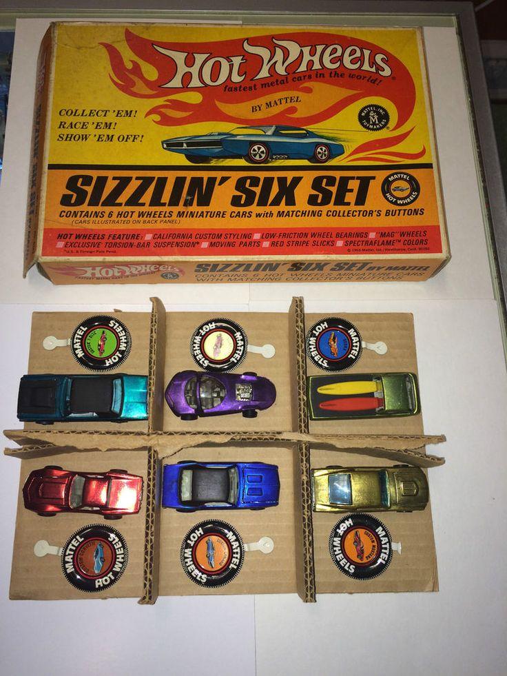 HOTWHEELS VINTAGE REDLINES SIZZLIN' SIX SET BOXED RARE