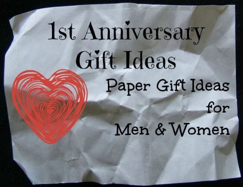 First Year Anniversary Gift Ideas
