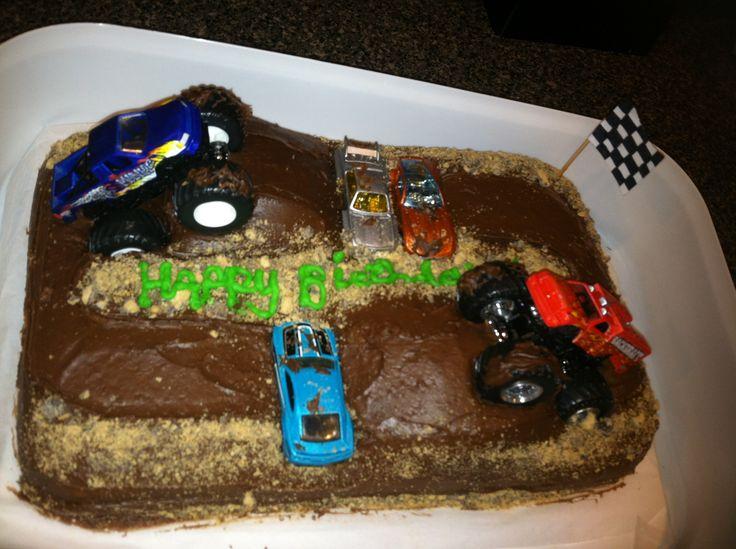 Easy Monster Truck Cake Happy Birthday Corey Cake Meee