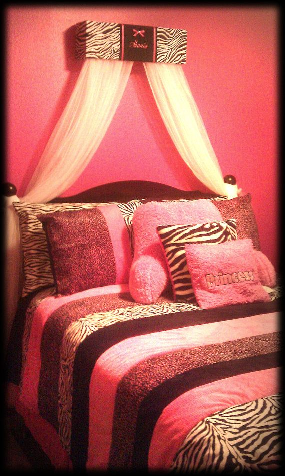 Pink Cheetah Print Room Decorations. zebra print bedroom ...
