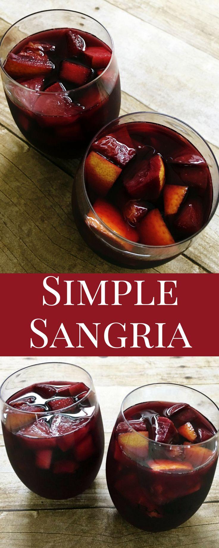 25 Best Ideas About Simple Sangria Recipe On Pinterest