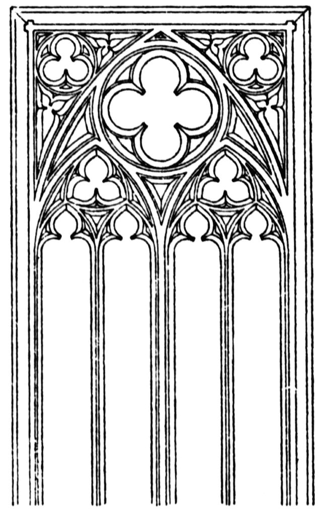 Gothic Tracery Patterns Gothic tracery ClipArt ETC