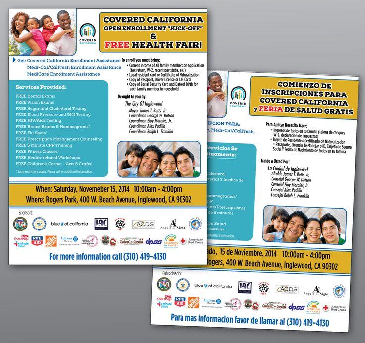 Health Fair Flyer (in both English & Spanish) Cutting